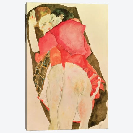 Lovers, 1911 Canvas Print #BMN6461} by Egon Schiele Art Print