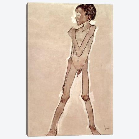 Nude Boy Standing Canvas Print #BMN6462} by Egon Schiele Art Print
