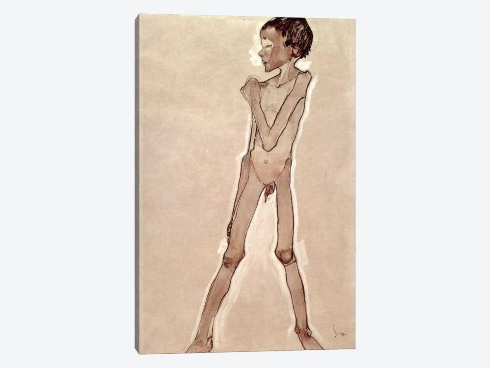 Nude Boy Standing by Egon Schiele 1-piece Canvas Artwork