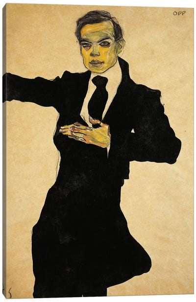 Portrait Of Max Oppenheimer, 1910 Canvas Print #BMN6463
