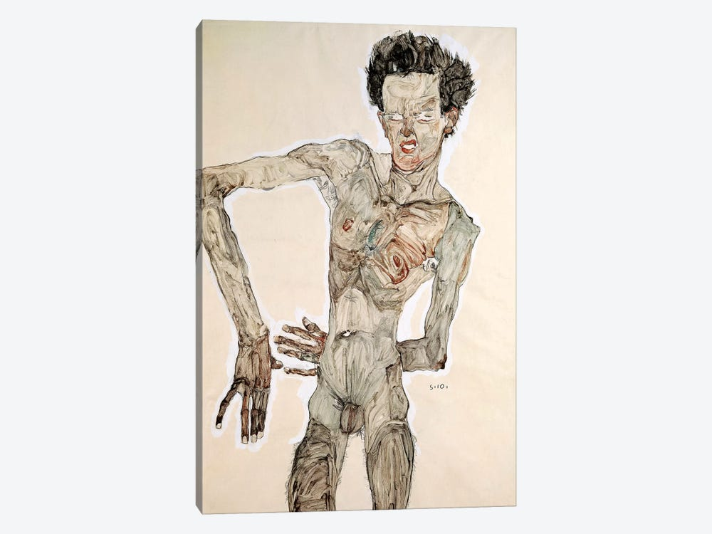 Self Portrait, Standing, 1910 by Egon Schiele 1-piece Art Print