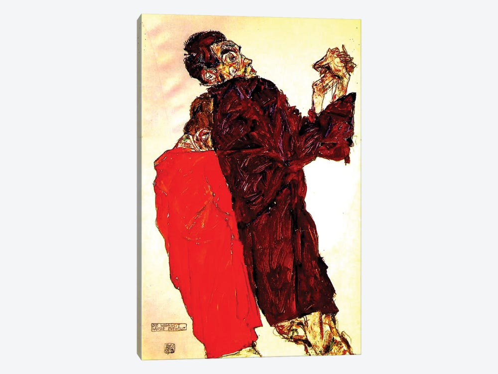 The Truth Unveiled, 1913 by Egon Schiele 1-piece Art Print