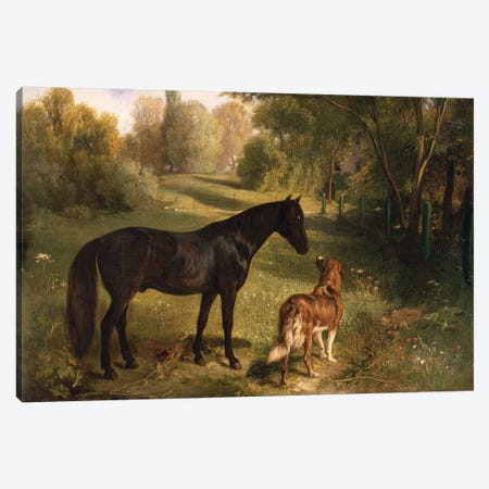 The two friends Canvas Print #BMN646} by Adam Benno Art Print