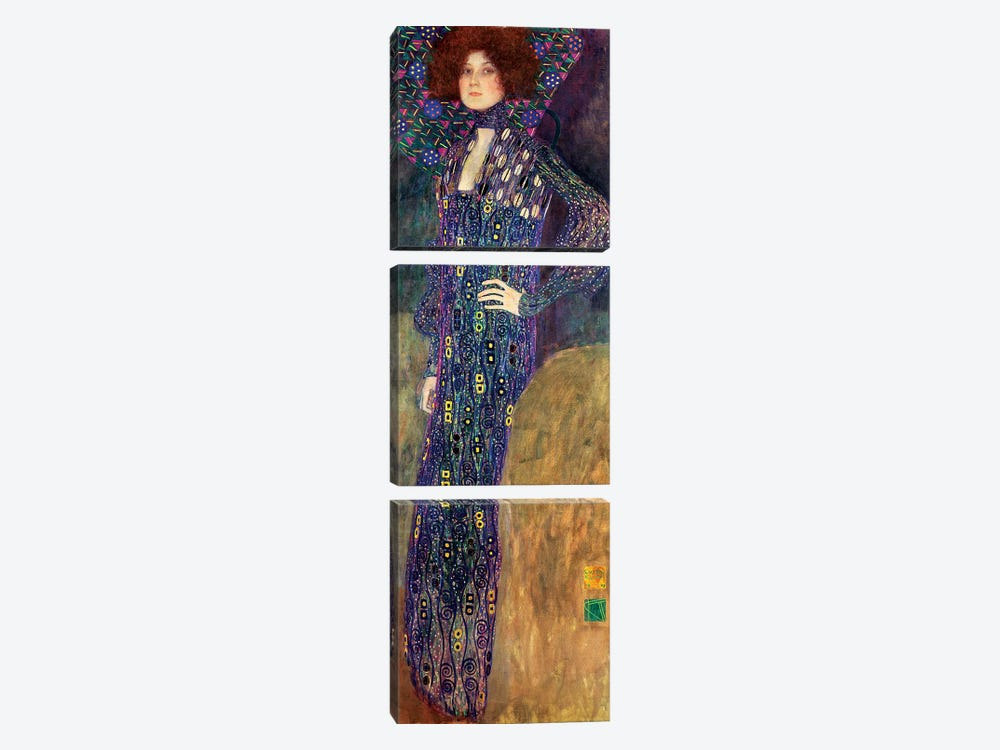 Emilie Floege, 1902 by Gustav Klimt 3-piece Canvas Print