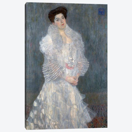 Portrati Of Hermine Gallia, 1904 Canvas Print #BMN6473} by Gustav Klimt Canvas Artwork