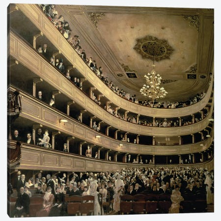 The Auditorium Of The Old Castle Theatre, 1888 Canvas Print #BMN6474} by Gustav Klimt Canvas Art Print