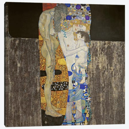 The Three Ages Of Women, 1905 Canvas Print #BMN6475} by Gustav Klimt Canvas Art Print