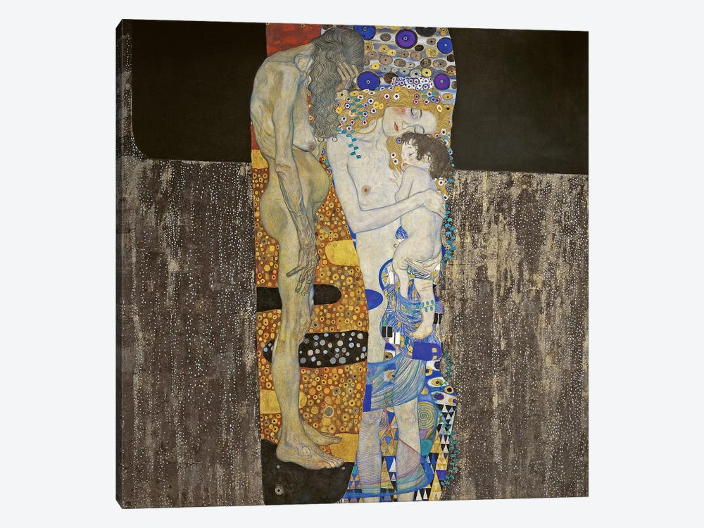 The Three Ages Of Women, 1905 by Gustav Klimt 1-piece Canvas Wall Art