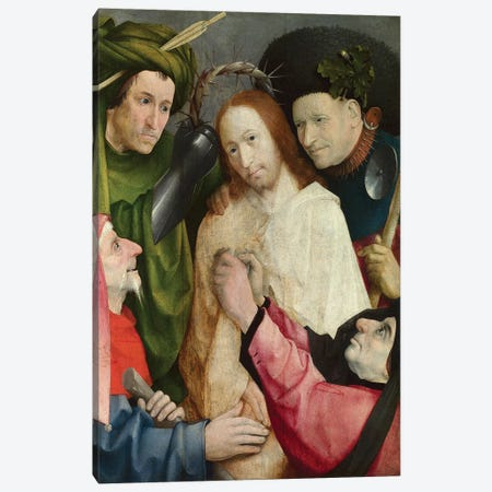 Christ Mocked (The Crowning With Thorns), c.1490-1500 Canvas Print #BMN6476} by Hieronymus Bosch Art Print
