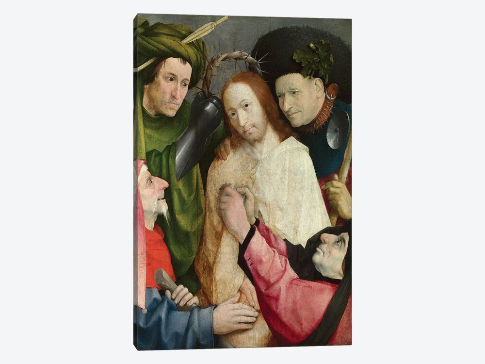 Christ Mocked (The Crowning With Thorns), c.1490-1500 by Hieronymus Bosch 1-piece Canvas Print
