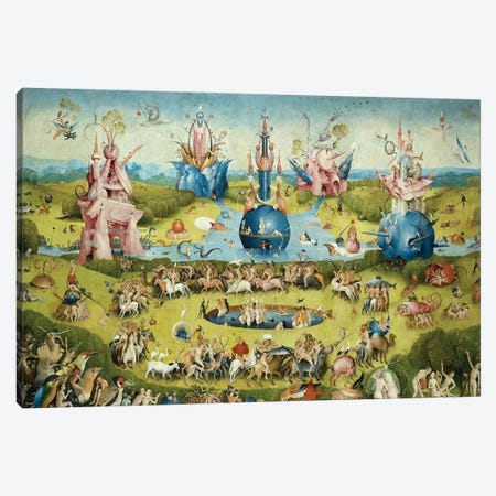 Detail Of Central Panel's Top Half, The Garden Of Earthly Delights, 1490-1500 Canvas Print #BMN6478} by Hieronymus Bosch Canvas Wall Art