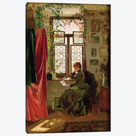 Reading the letter Canvas Print #BMN647} by Peter Kraemer Canvas Art Print