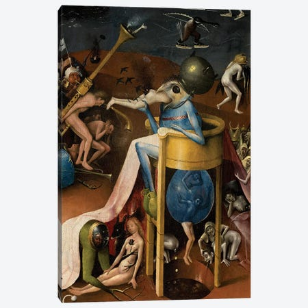 Detail Of The Prince Of Hell, The Garden Of Earthly Delights, 1490-1500 Canvas Print #BMN6480} by Hieronymus Bosch Canvas Print