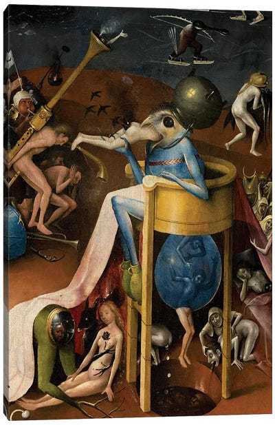 Detail Of The Prince Of Hell, The Garden Of Earthly Delights, 1490-1500 Canvas Art Print