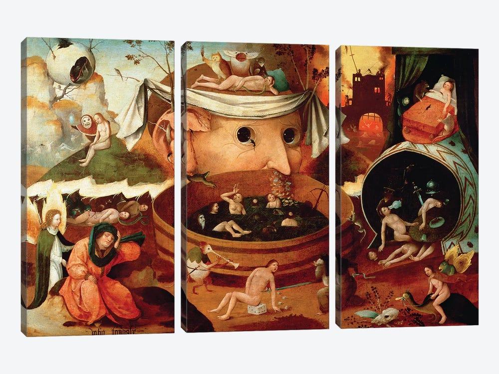 Vision de Tondal (Tondal's Vision) by Hieronymus Bosch 3-piece Canvas Print