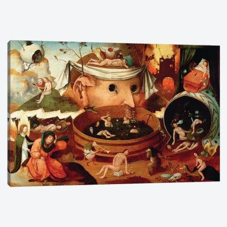 Vision de Tondal (Tondal's Vision) Canvas Print #BMN6481} by Hieronymus Bosch Canvas Print