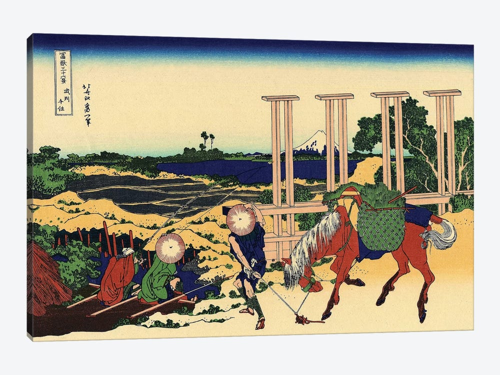 Senju In The Musachi Province, c.1830 by Katsushika Hokusai 1-piece Canvas Art