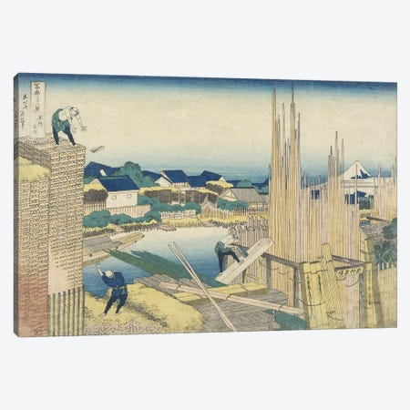 Tatekawa In Honjo, 1831-34 Canvas Print #BMN6487} by Katsushika Hokusai Canvas Artwork