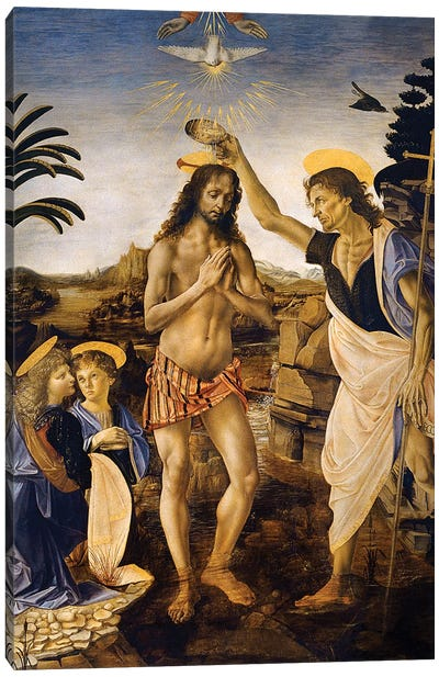 The Baptism Of Christ By John The Baptist, c.1475 Canvas Print #BMN6489