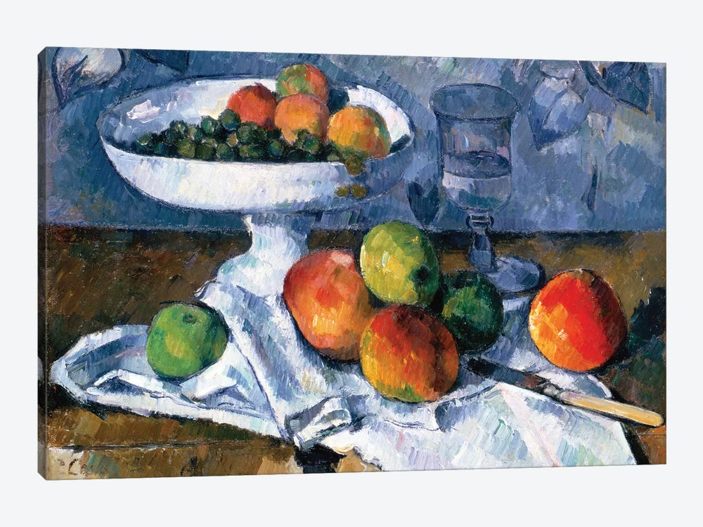 Still Life With Fruit Dish, 1879-80 by Paul Cezanne 1-piece Art Print