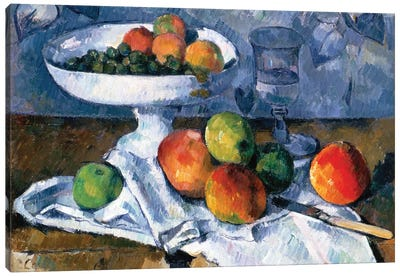 Still Life With Fruit Dish, 1879-80 Canvas Art Print