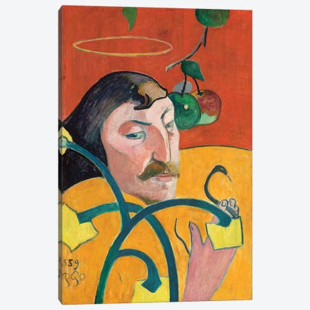 Self-Portrait, 1889 Canvas Print #BMN6492} by Paul Gauguin Canvas Artwork
