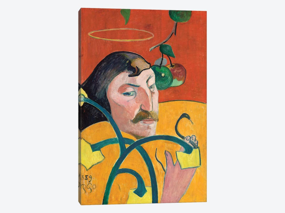 Self-Portrait, 1889 by Paul Gauguin 1-piece Canvas Art Print
