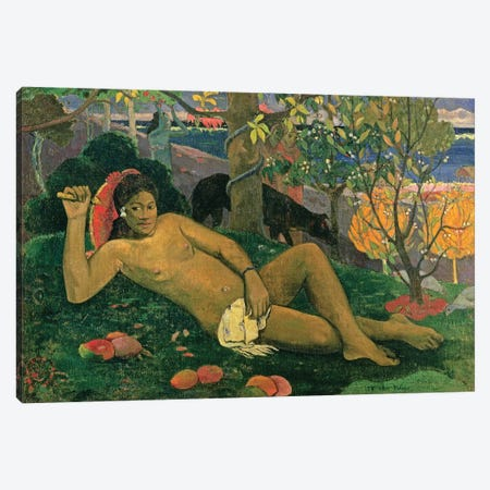 Te Arii Vahine (The King's Wife), 1896 Canvas Print #BMN6493} by Paul Gauguin Canvas Wall Art