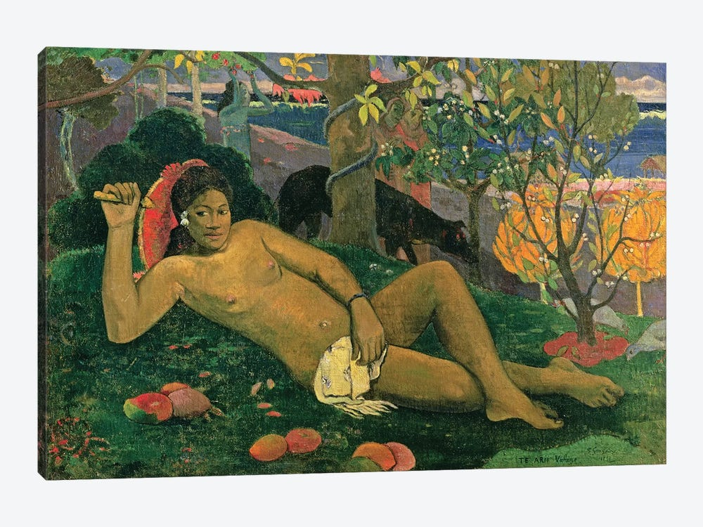 Te Arii Vahine (The King's Wife), 1896 by Paul Gauguin 1-piece Canvas Artwork