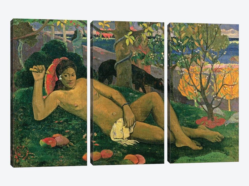 Te Arii Vahine (The King's Wife), 1896 by Paul Gauguin 3-piece Canvas Art