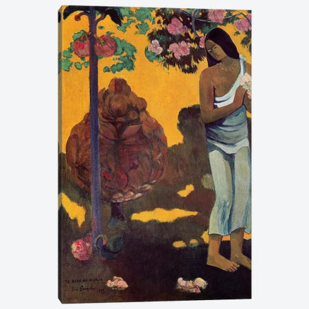 Te Avae No Maria (Month Of Mary), 1899 Canvas Print #BMN6494} by Paul Gauguin Art Print