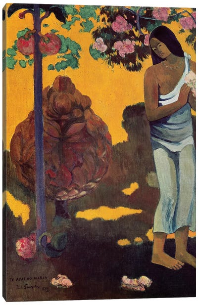 Te Avae No Maria (Month Of Mary), 1899 Canvas Art Print