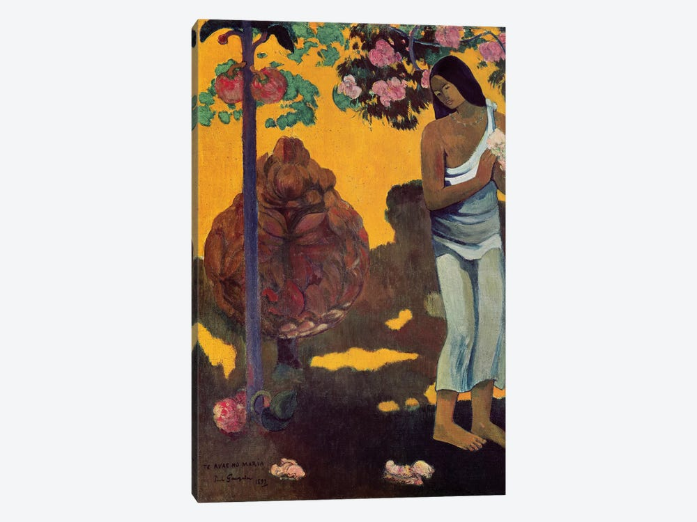 Te Avae No Maria (Month Of Mary), 1899 by Paul Gauguin 1-piece Canvas Print