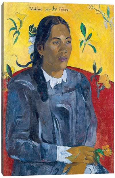 Vahine No Te Tiare (Woman With A Flower), 1891 Canvas Art Print
