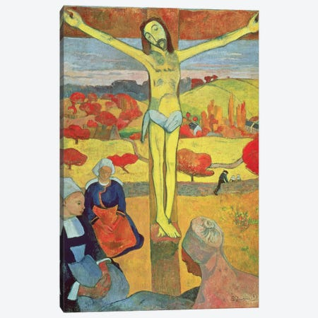 Yellow Christ, 1889 Canvas Print #BMN6496} by Paul Gauguin Canvas Print