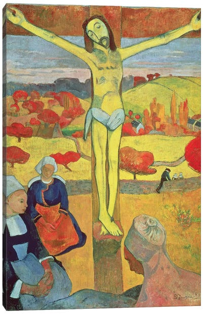 Yellow Christ, 1889 Canvas Art Print