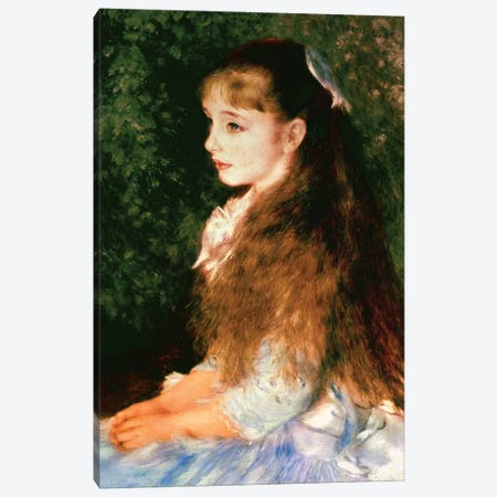 Portrait Of Mademoiselle Irene Cahen d'Anvers, 1880 Canvas Print #BMN6498} by Pierre-Auguste Renoir Canvas Artwork