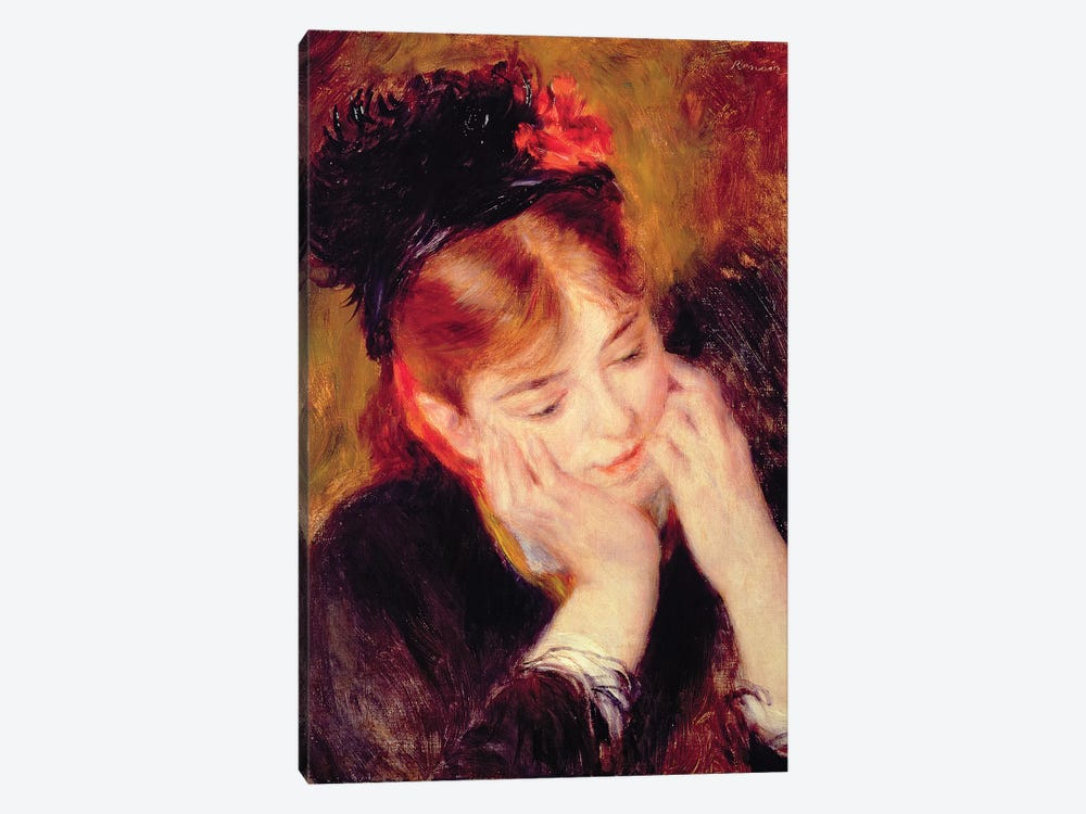 Reflection by Pierre-Auguste Renoir 1-piece Canvas Wall Art