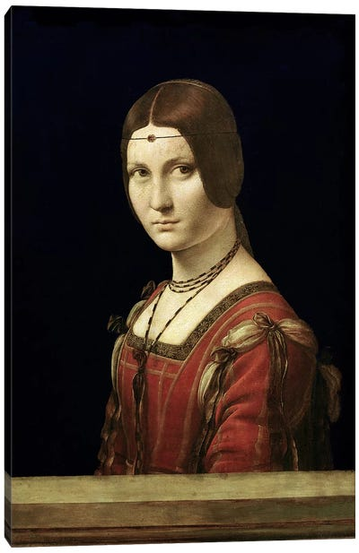 Portrait of a Lady from the Court of Milan, c.1490-95 by Leonardo da Vinci Canvas Art