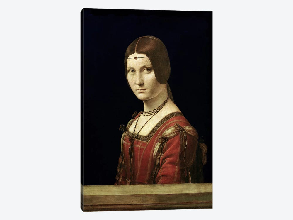 Portrait of a Lady from the Court of Milan, c.1490-95  by Leonardo da Vinci 1-piece Canvas Artwork