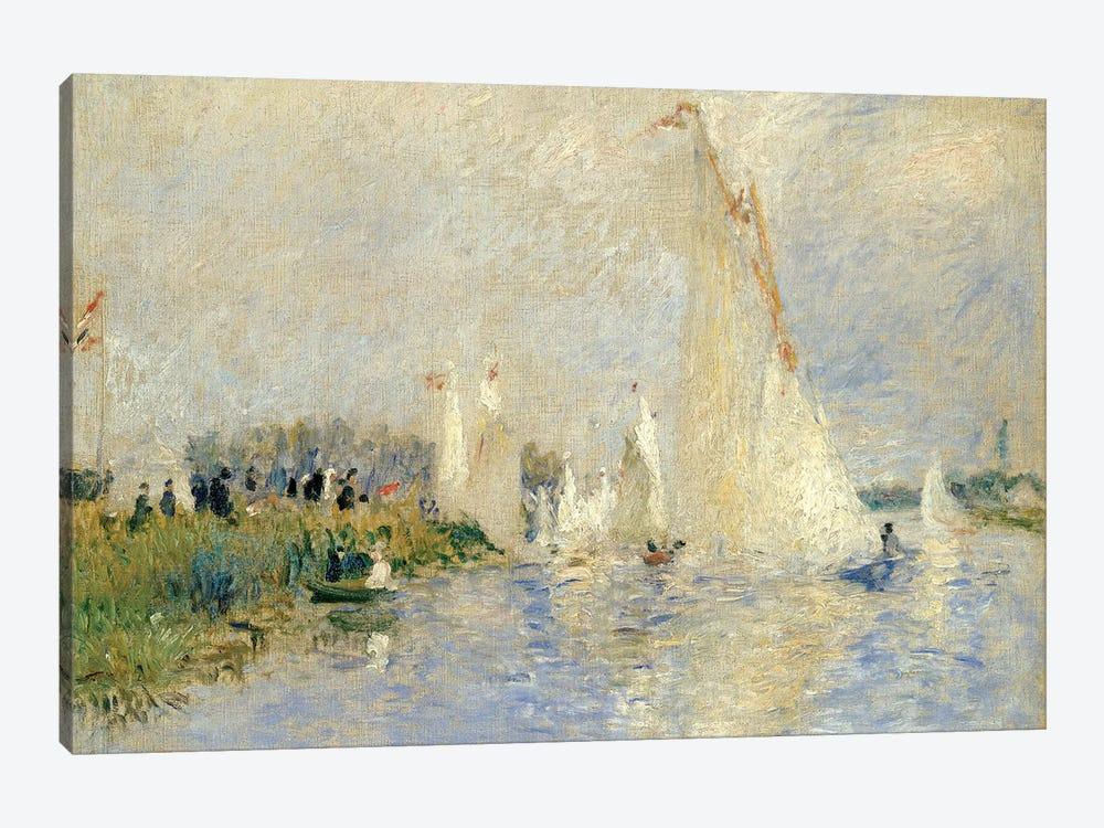 Regatta At Argenteuil, 1874 by Pierre-Auguste Renoir 1-piece Canvas Print