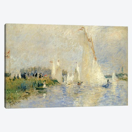 Regatta At Argenteuil, 1874 Canvas Print #BMN6500} by Pierre-Auguste Renoir Canvas Art