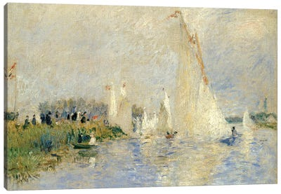 Regatta At Argenteuil, 1874 Canvas Print #BMN6500