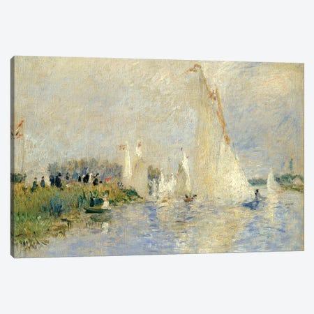 Regatta At Argenteuil, 1874 Canvas Print #BMN6500} by Pierre-Auguste Renoir Canvas Art
