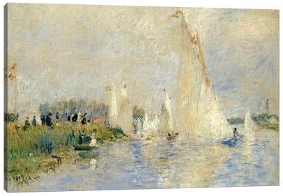 Regatta At Argenteuil, 1874 Canvas Art Print