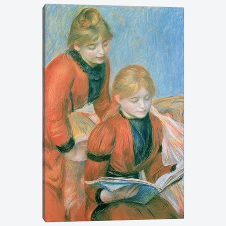 The Two Sisters Canvas Print #BMN6501} by Pierre-Auguste Renoir Canvas Wall Art