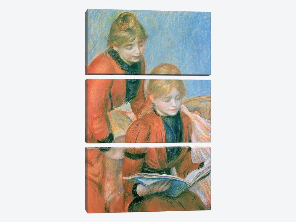 The Two Sisters by Pierre-Auguste Renoir 3-piece Canvas Art