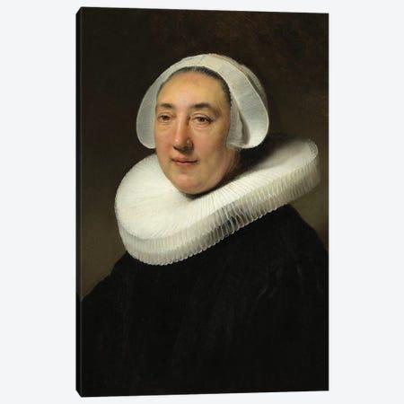 Portrait Of Haesje Jacobsdr van Cleyburg, 1634 Canvas Print #BMN6502} by Rembrandt van Rijn Canvas Art