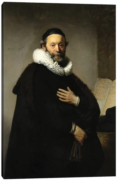 Portrait Of Johannes Wtenbogaert, 1633 Canvas Art Print
