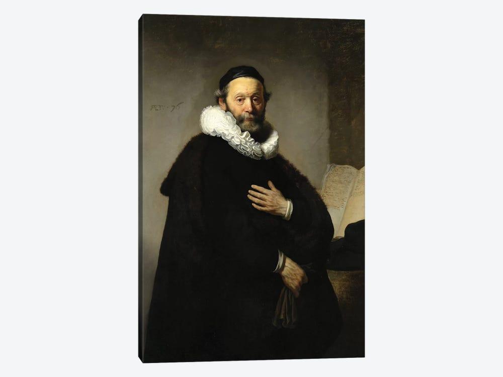 Portrait Of Johannes Wtenbogaert, 1633 by Rembrandt van Rijn 1-piece Canvas Artwork
